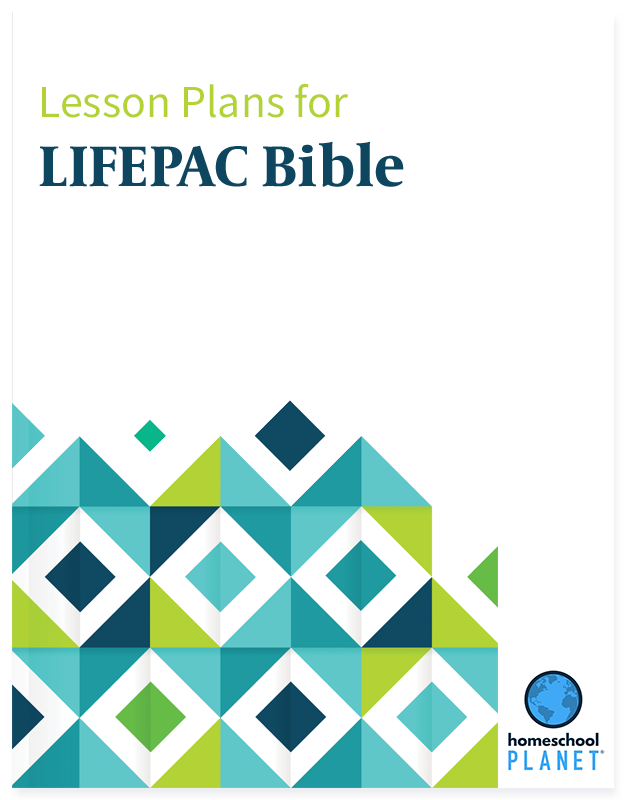 LIFEPAC Bible lesson plan button for homeschool planet