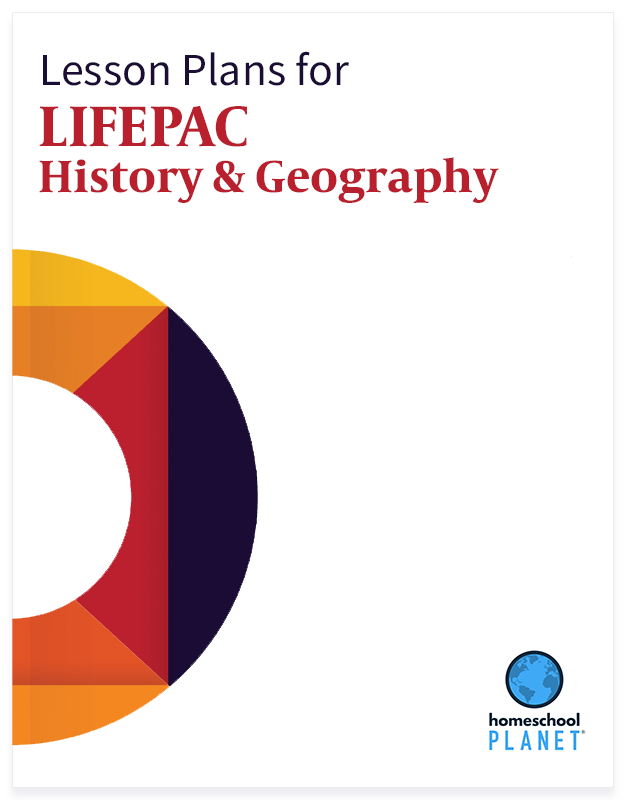 LIFEPAC History & Geography lesson plan button for homeschool planet