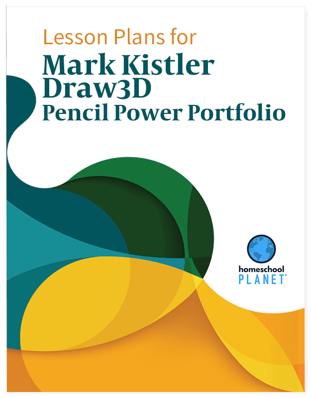 Mark Kistler Draw 3D Pencil Power Portfolio lesson plan button for homeschool planet