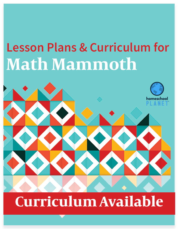 Homeschool Planet Math Mammoth lesson plans and curriculum button