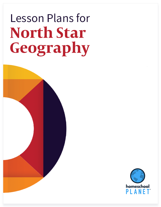 North Star Geography lesson plan button for homeschool planet