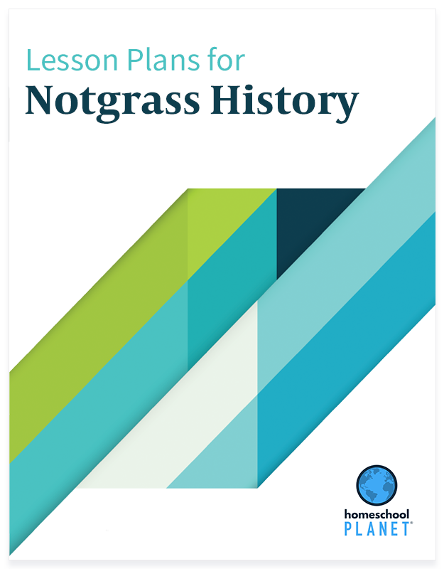 Notgrass History lesson plan button for homeschool planet
