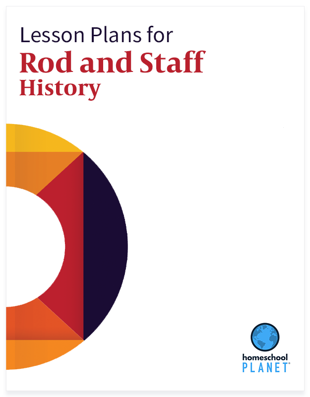Rod and Staff History lesson plan button for homeschool planet