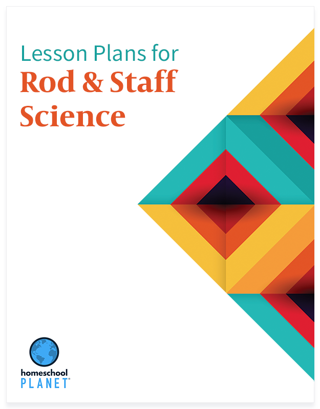 Rod and Staff Science lesson plan button for homeschool planet