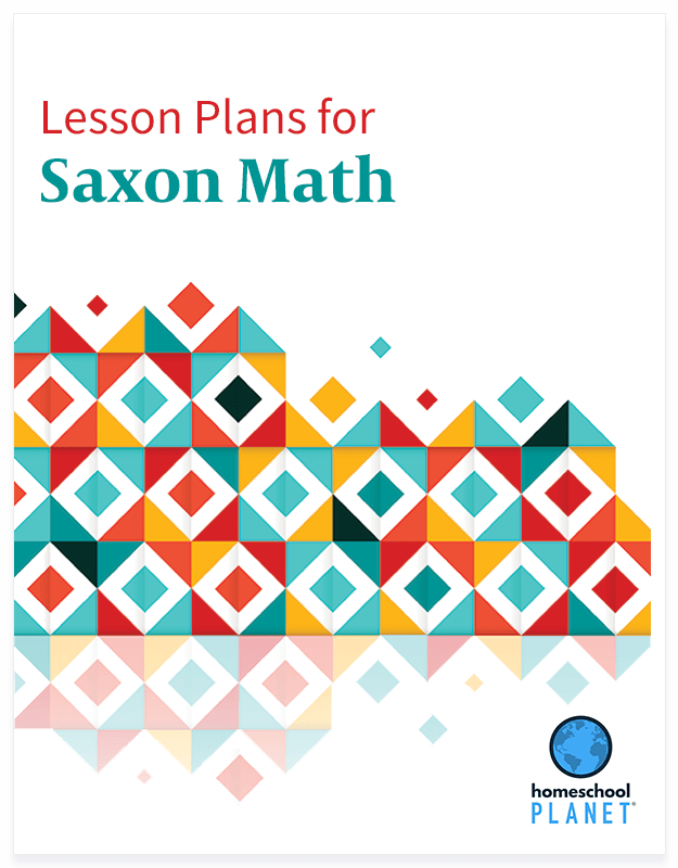 Homeschool Planner Saxon Math lesson plan button