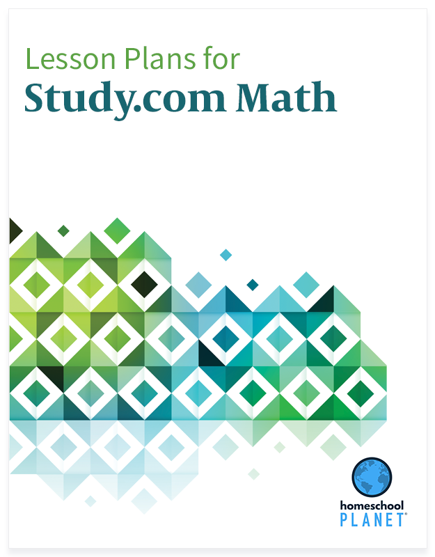 Homeschool Planner Study.com Math lesson plan button