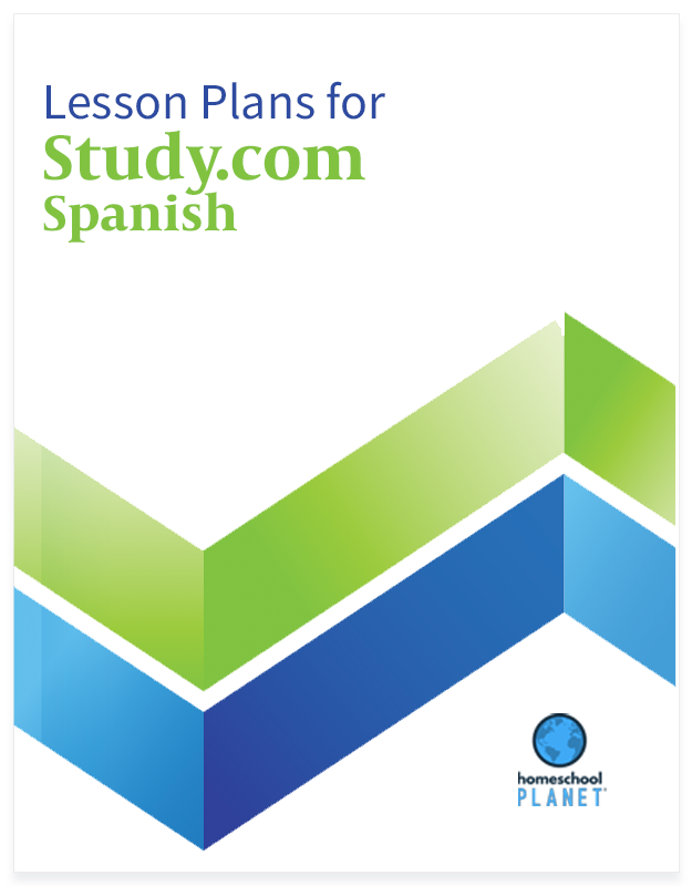 Study.com spanish lesson plan button for homeschool planet