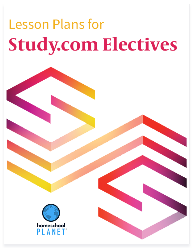 Study.com Electives lesson plan button for homeschool planet