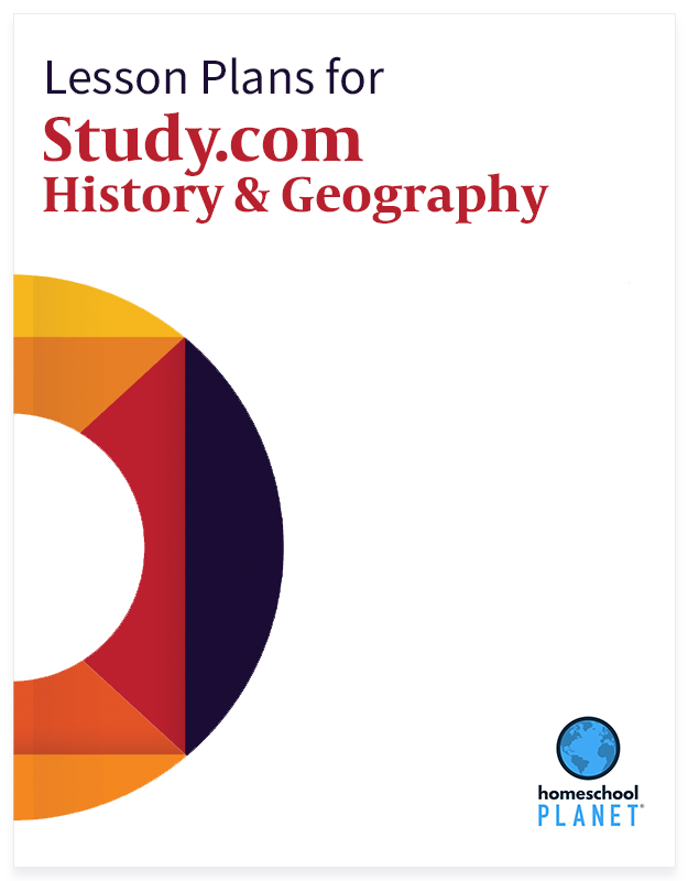 Study.com History & Geography lesson plan button for homeschool planet