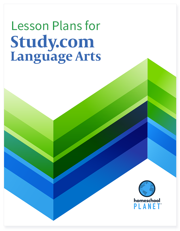 Study.com Language Arts lesson plan button for homeschool planet