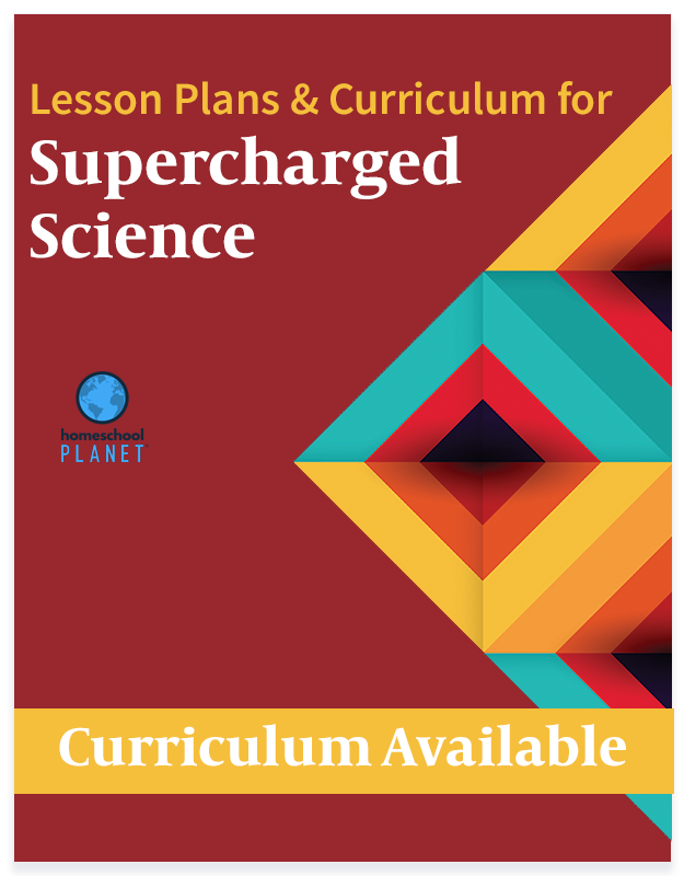 Homeschool Planet Supercharged Science lesson plans and curriculum button