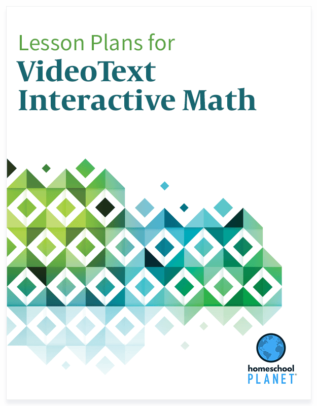 Homeschool Planner VideoText Interactive Math lesson plan button
