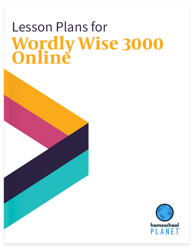 Wordly Wise 3000 Online lesson plan button for homeschool planet