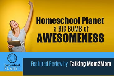 Homeschool Planet Big Bomb of Awesomeness review by Talking Mom2Mom button