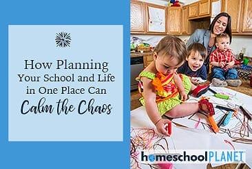 Homeschool Planet Calm the Chaos button