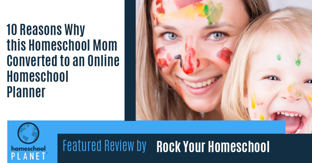 Homeschool Planet review by Rock Your Homeschool Amy Milcic button