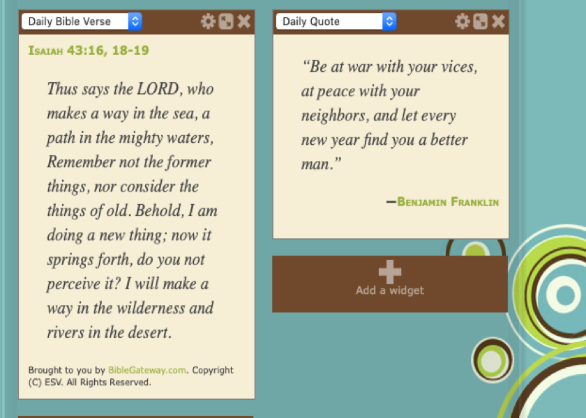 Homeschool Planet Bible verse, Quote or both Widget screenshot button