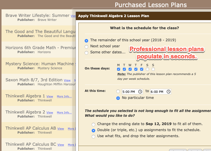 Homeschool Planet Lesson Plans screenshot button
