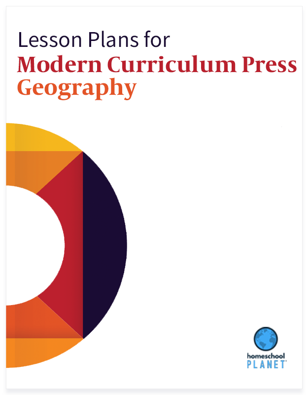 Modern Curriculum Press Geography lesson plan button for homeschool planet