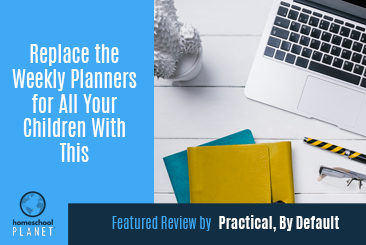 Homeschool Planet review by Practical, By Default button