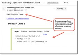 Homeschool Planet Apologia Biology 7-12 Daily Digest button