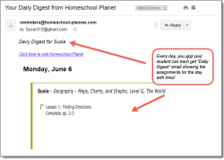 Homeschool Planet Geography Daily Digest button