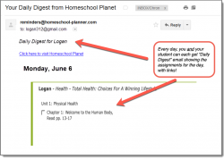 Homeschool Planet Health Daily Digest button