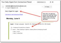 Homeschool Planet Daily Digest template button