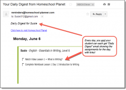 Homeschool Planet Essentials Daily Digest button