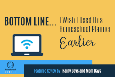 Homeschool Planet review by Rainy Day & Mom Days button