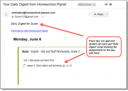 Homeschool Planet Rod and Staff Penmanship Daily Digest button