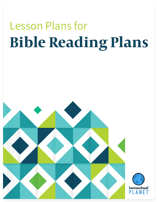 Bible Reading Plans lesson plan button for homeschool planet