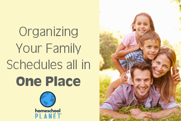 Homeschool Planet Organizing your Family Schedules button