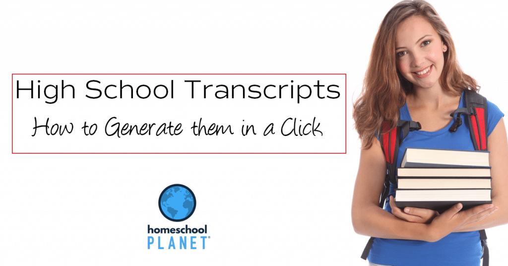 Homeschool Planet High School Transcripts button