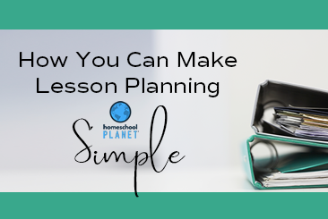 Homeschool Planet Making Lesson Planning Simple button