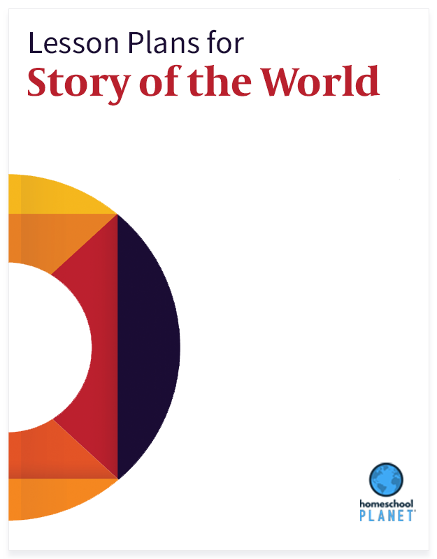 Story of The World lesson plan button for homeschool planet