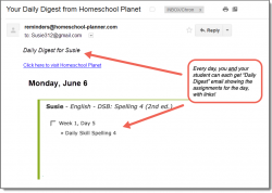 Homeschool Planet DSB2- Spelling 4 Daily Digest button