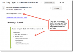 Homeschool Planet Daily Digest button
