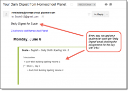 Homeschool Planet Daily Skills Spelling Daily Digest button