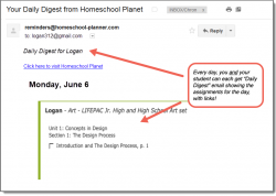 Homeschool Planet Lifepac Art Daily Digest button