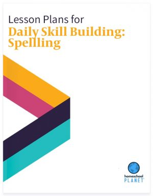 Daily skill-Building: Spelling lesson plan button for homeschool planet