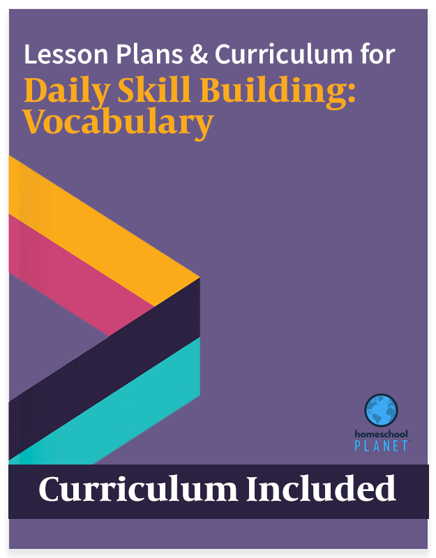 Homeschool Planet Daily Skill Building Vocabulary lesson plans and curriculum button