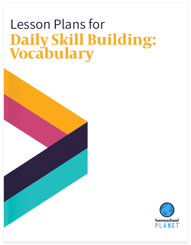 Daily Skill Building: Vocabulary lesson plan button for homeschool planet