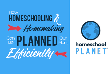 Homeschool Planet Planning more Efficiently Blogspot button
