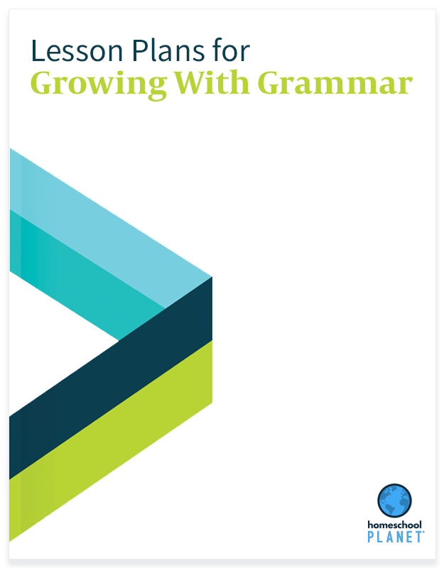 Homeschool Planner Growing with Grammar lesson plan button