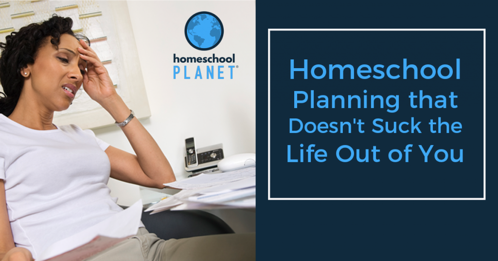 Homeschool Planet Planning that doesn't suck the life out of you Blogspot button