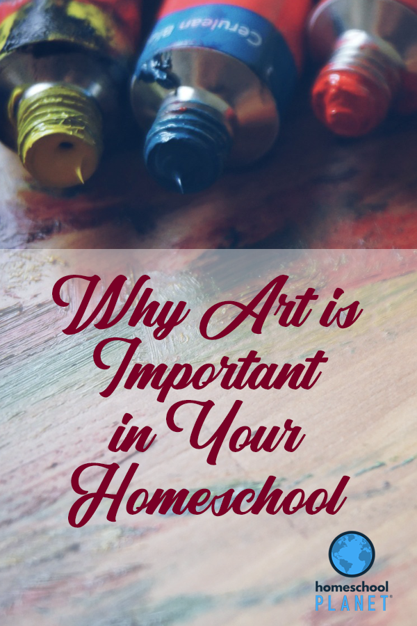 Homeschool Planet Why Art is Important in your Homeschool Blogspot button