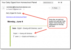 Homeschool Planet Growing with Grammar Daily Digest button
