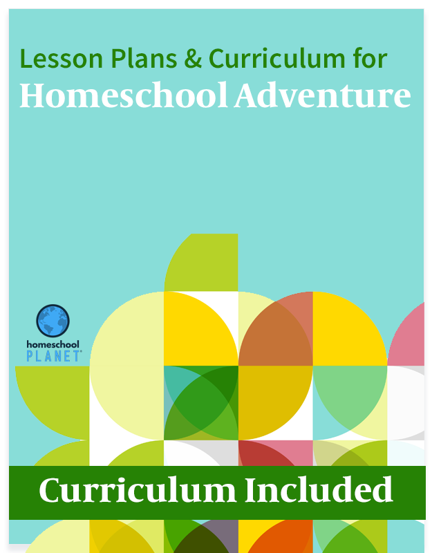 Homeschool Planet Homeschool Adventure lesson plans and curriculum button