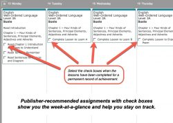 Homeschool Planet Well-Ordered Language weekly view button